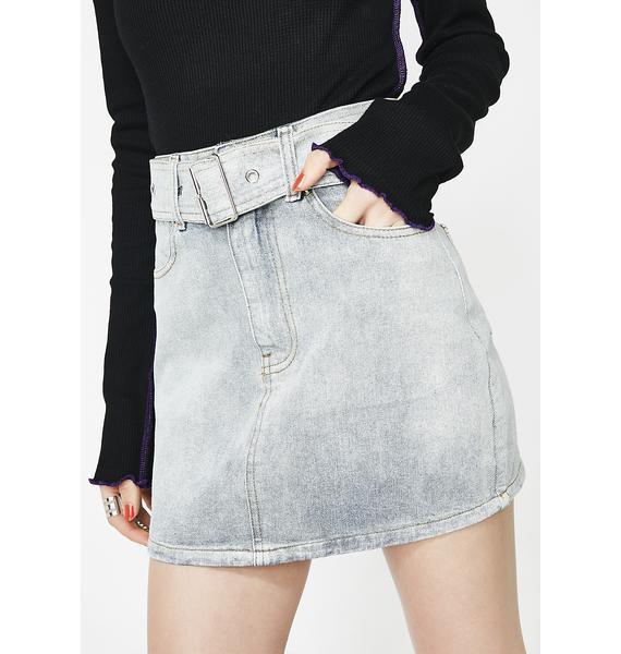 A Notch Above Denim Skirt