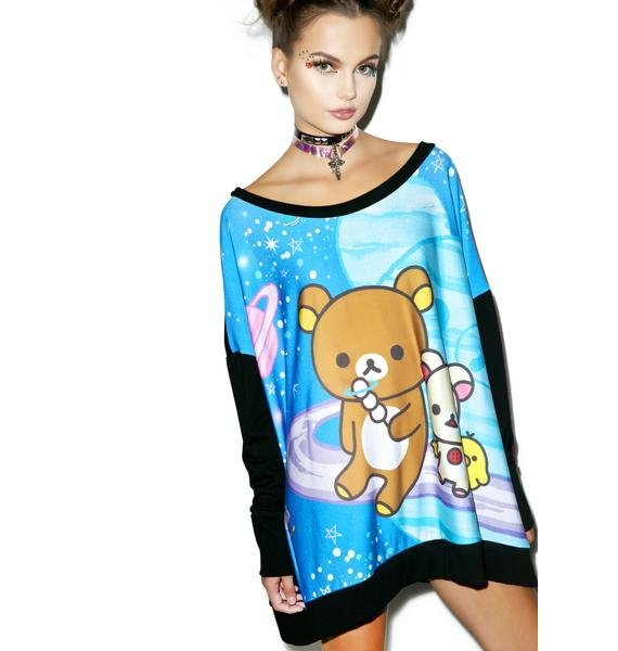 Japan L.A. Rilakkuma Space Poncho Sweatshirt