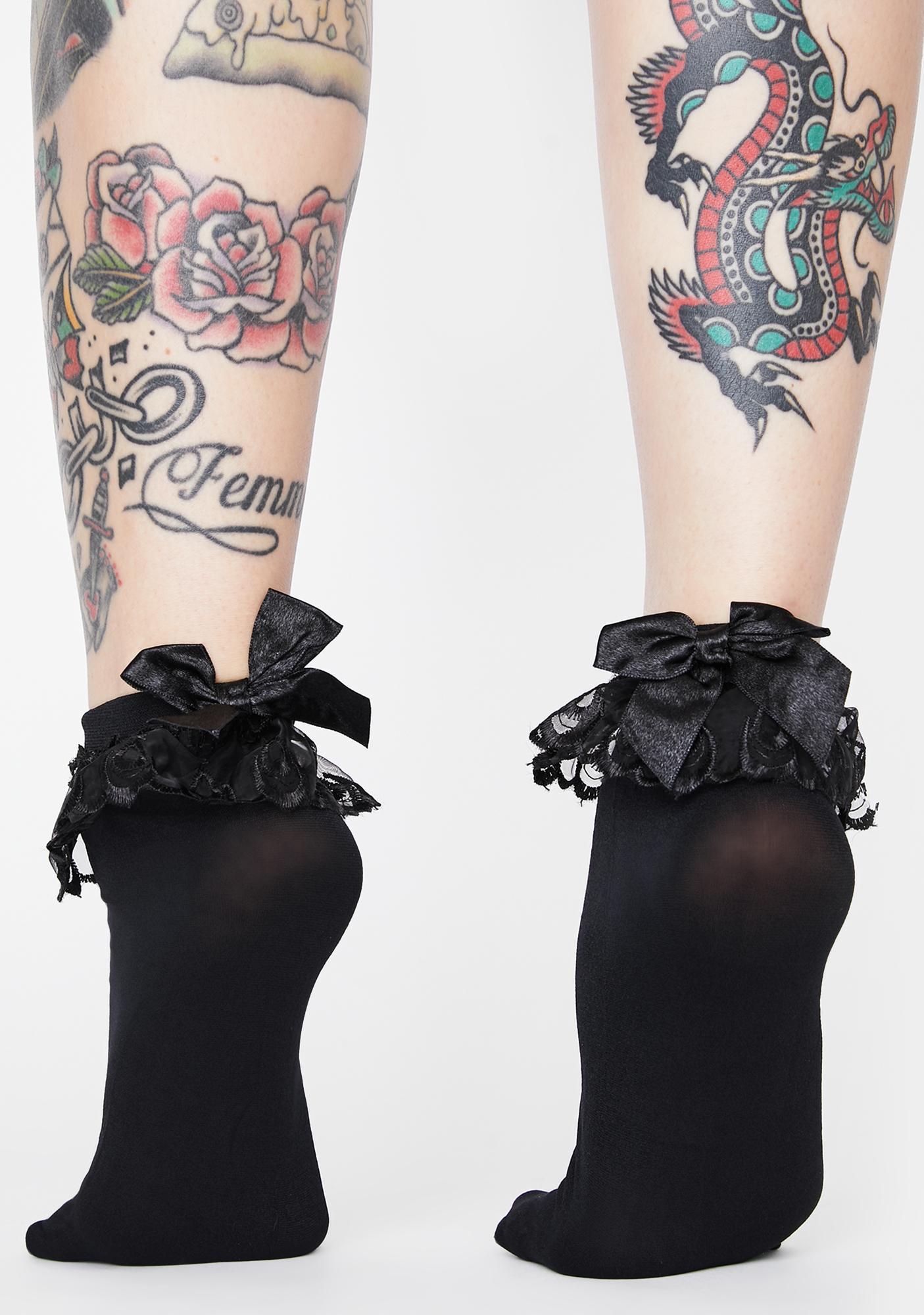 Dark Sweeter Tingz Ankle Socks
