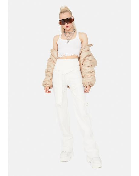 Come Correct Strappy Flare Pants