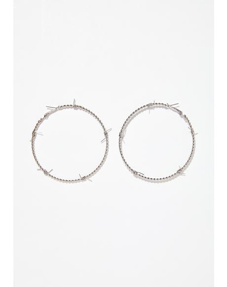 Jail Break Hoop Earrings