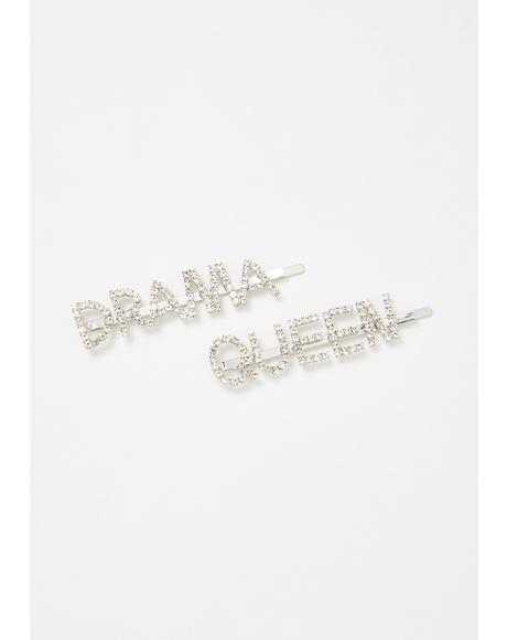 Lives For Drama Rhinestone Hair Pins