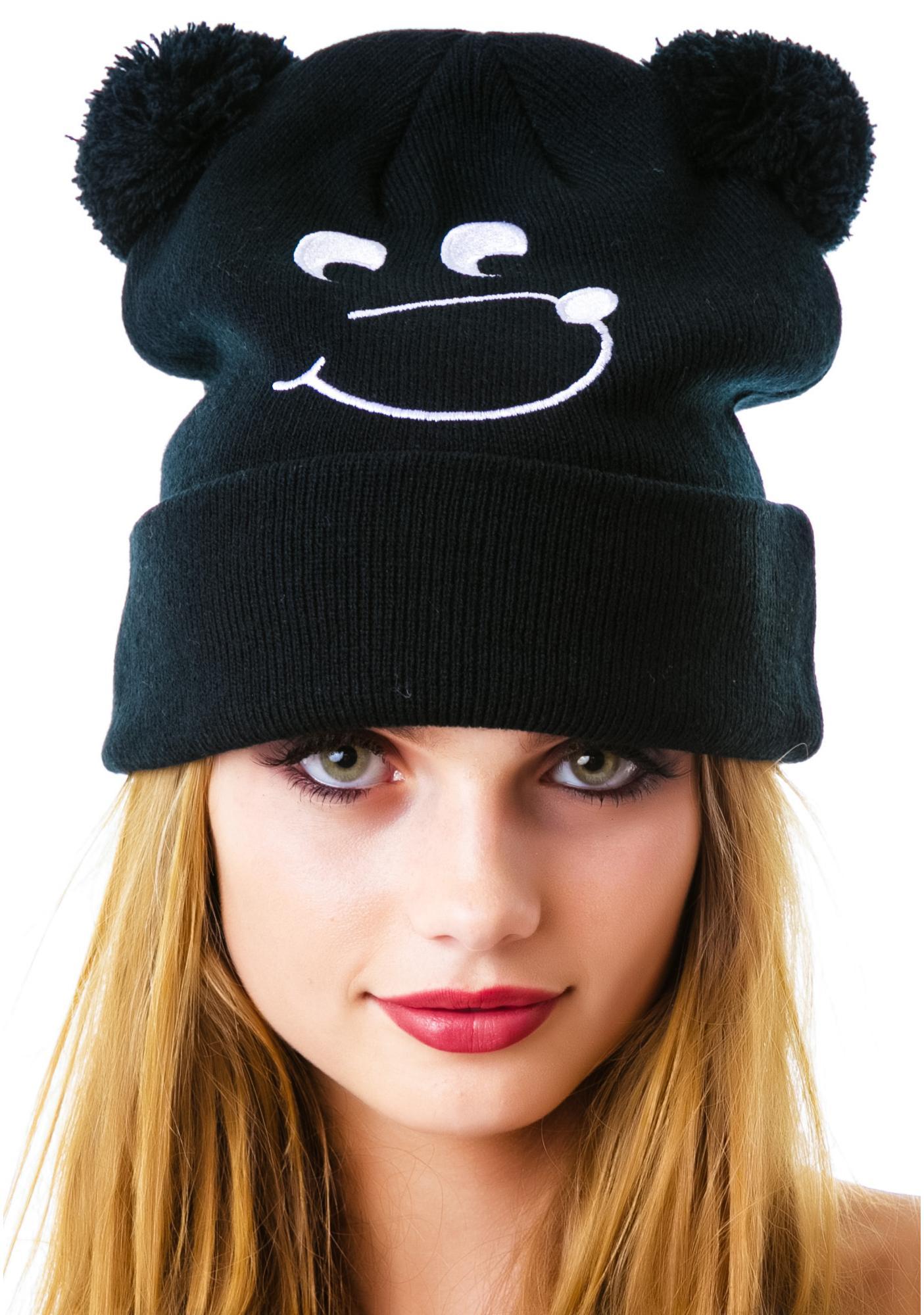 916d7f87acc Lazy Oaf Bear Bobble Hat