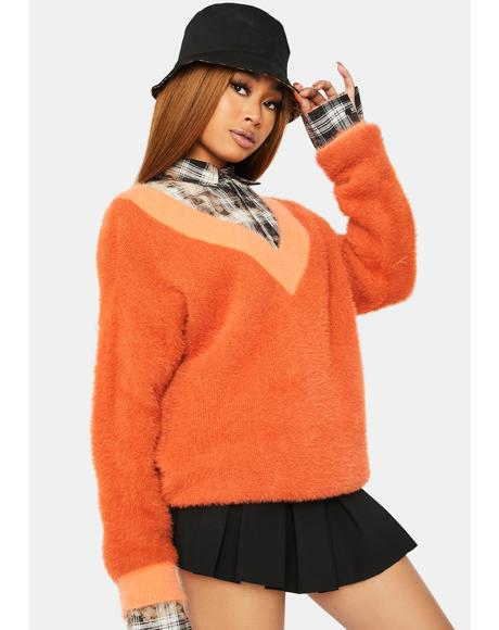 On Their Radar Two-Tone Fleece Sweater