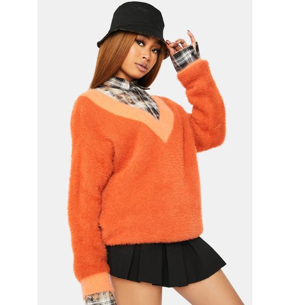 On Their Radar Two-Tone Fleece Sweater