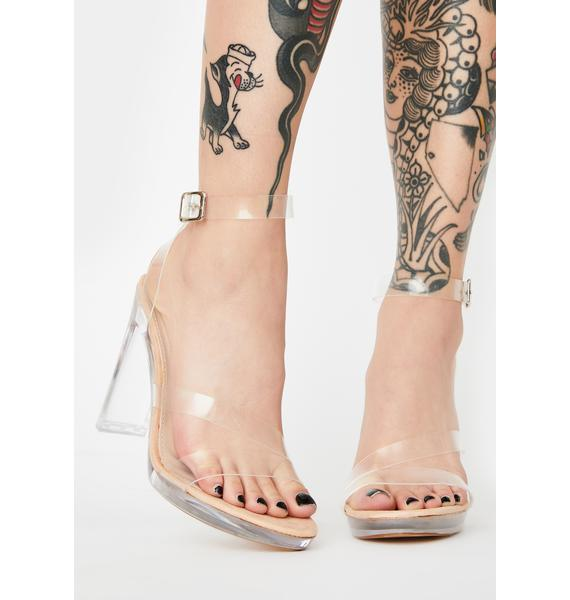 Public Desire Clear Brittany Strappy Heels
