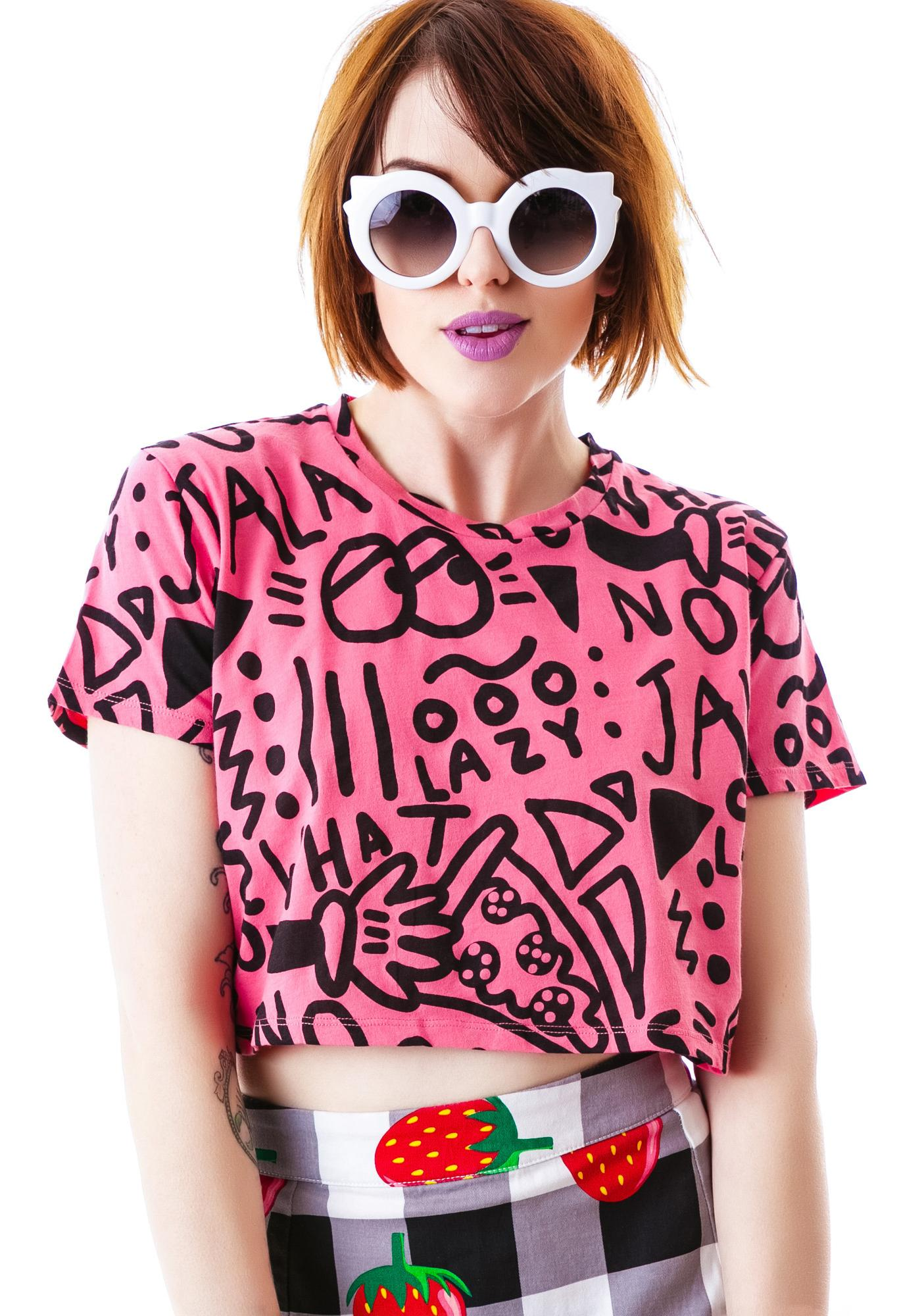 Lazy Oaf Hell No Jalepeno Crop Tee