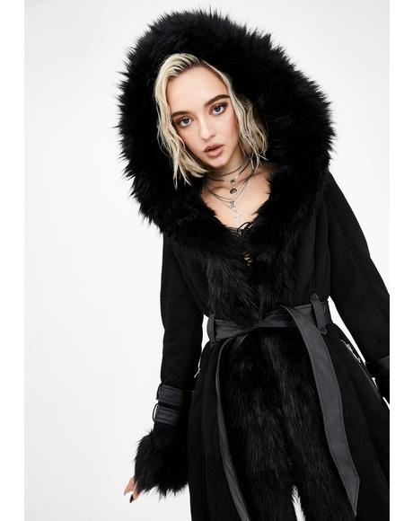 Black Yukon Fur Coat