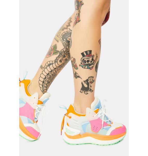 Anthony Wang Raisin 3 Chunky Wedge Sneakers
