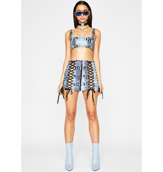 Poster Grl Bossy Bloodline Lace Up Skirt