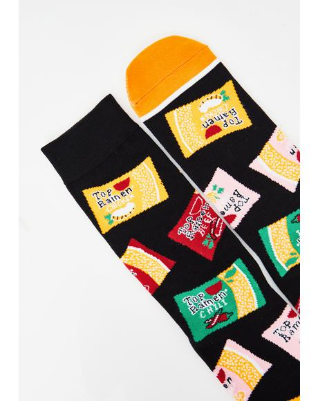 Send Noods Crew Socks