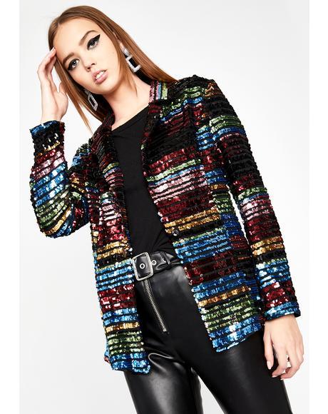Glamorous Professional Sequin Blazer