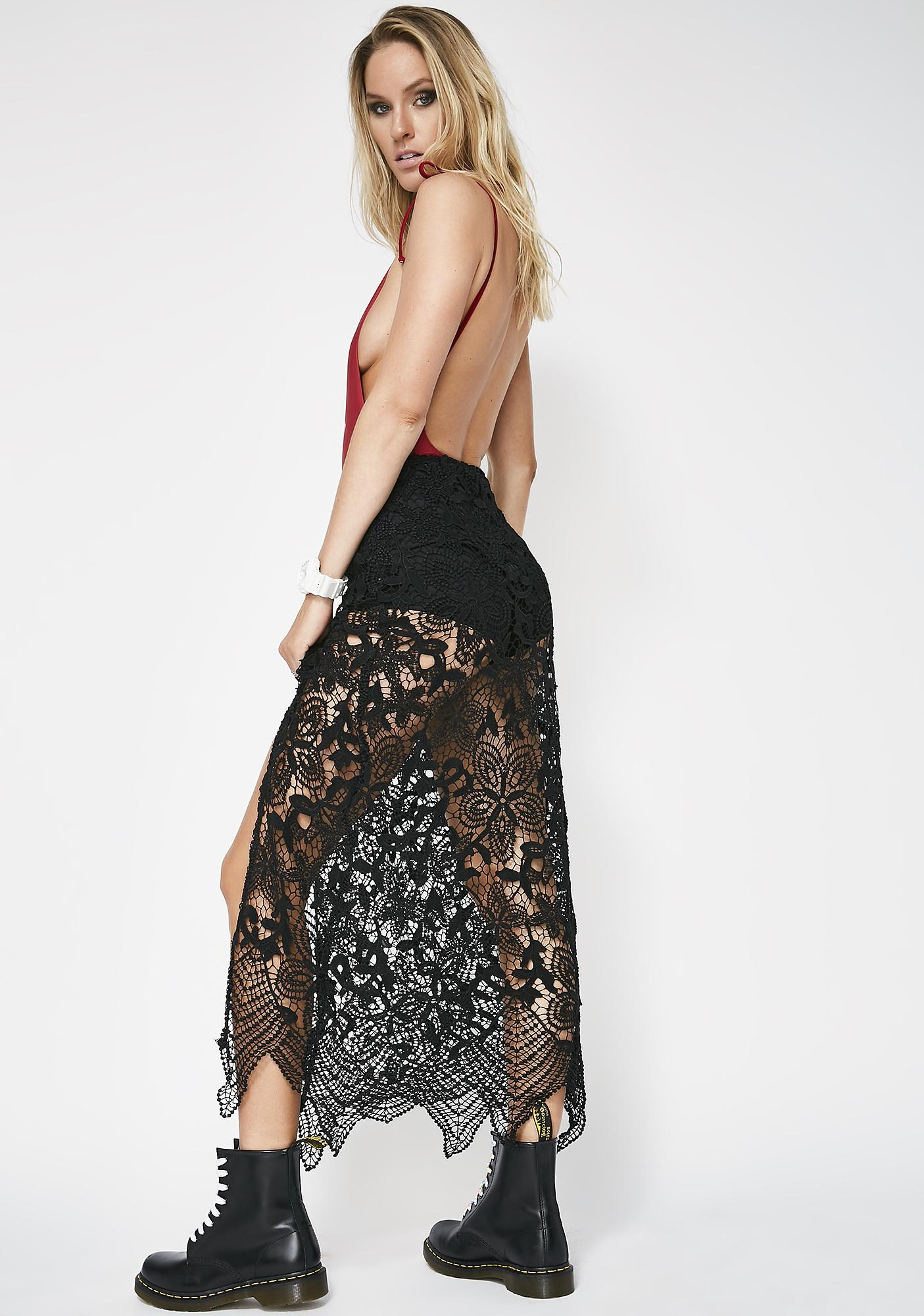 Make Time Stop Lace Skirt