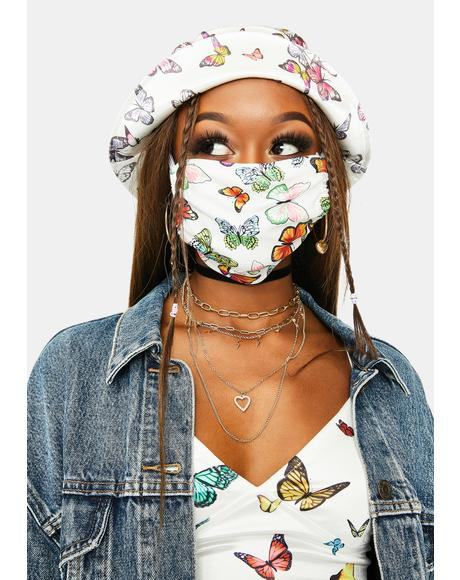 Fluttering Wings Face Mask