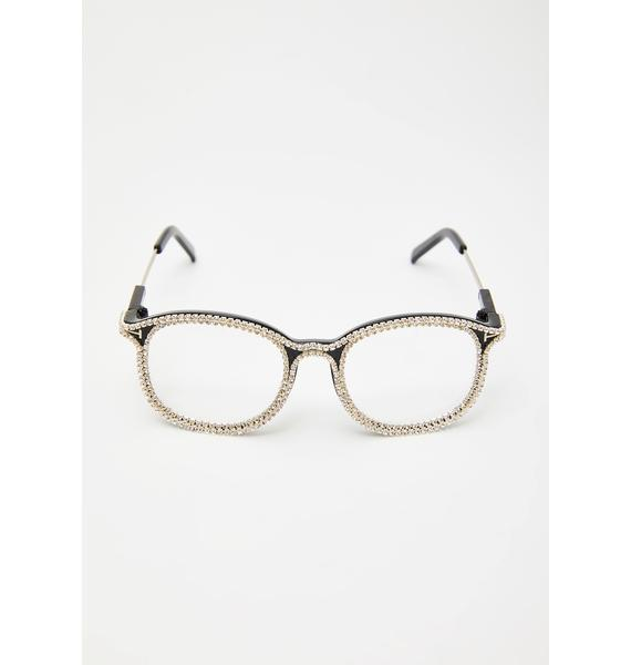 See U Clearly Rhinestone Sunglasses
