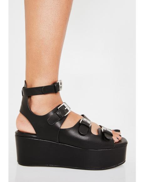 Step Outta Line Platform Sandals