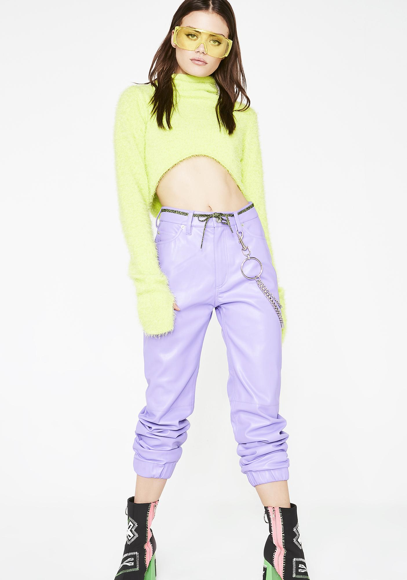 x-Girl Vegan Leather Jogger Pants