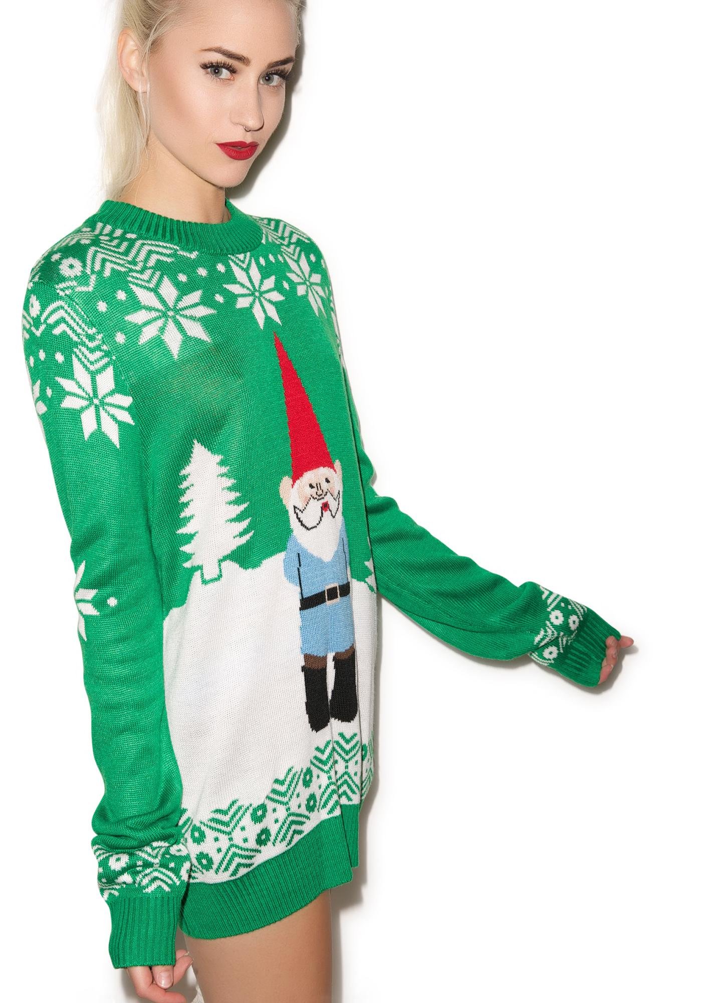 Tipsy Elves Suspicious Gnome Sweater