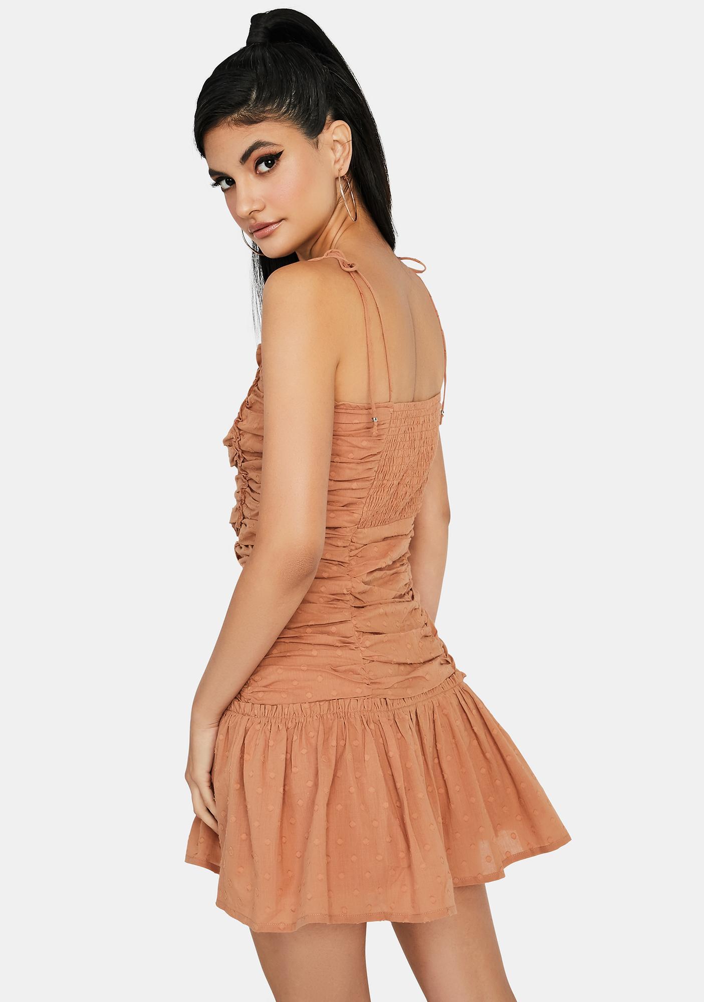 Elegant Tea Party Ruched Dress