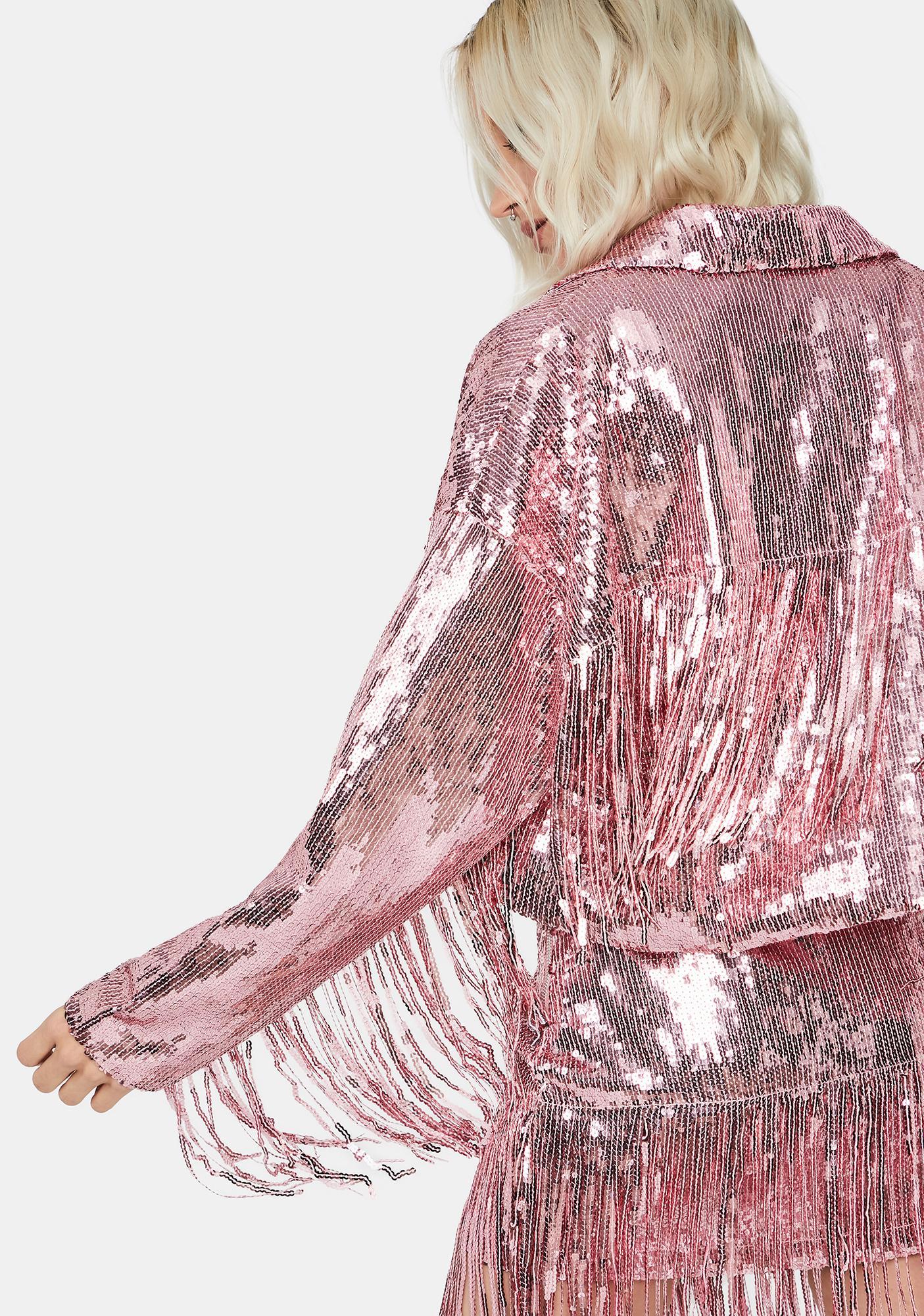 Sweet Blindin' Baddie Sequin Jacket