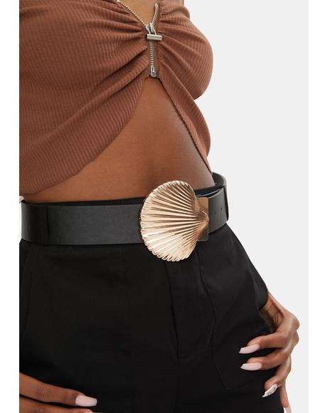 Golden Seashell Belt