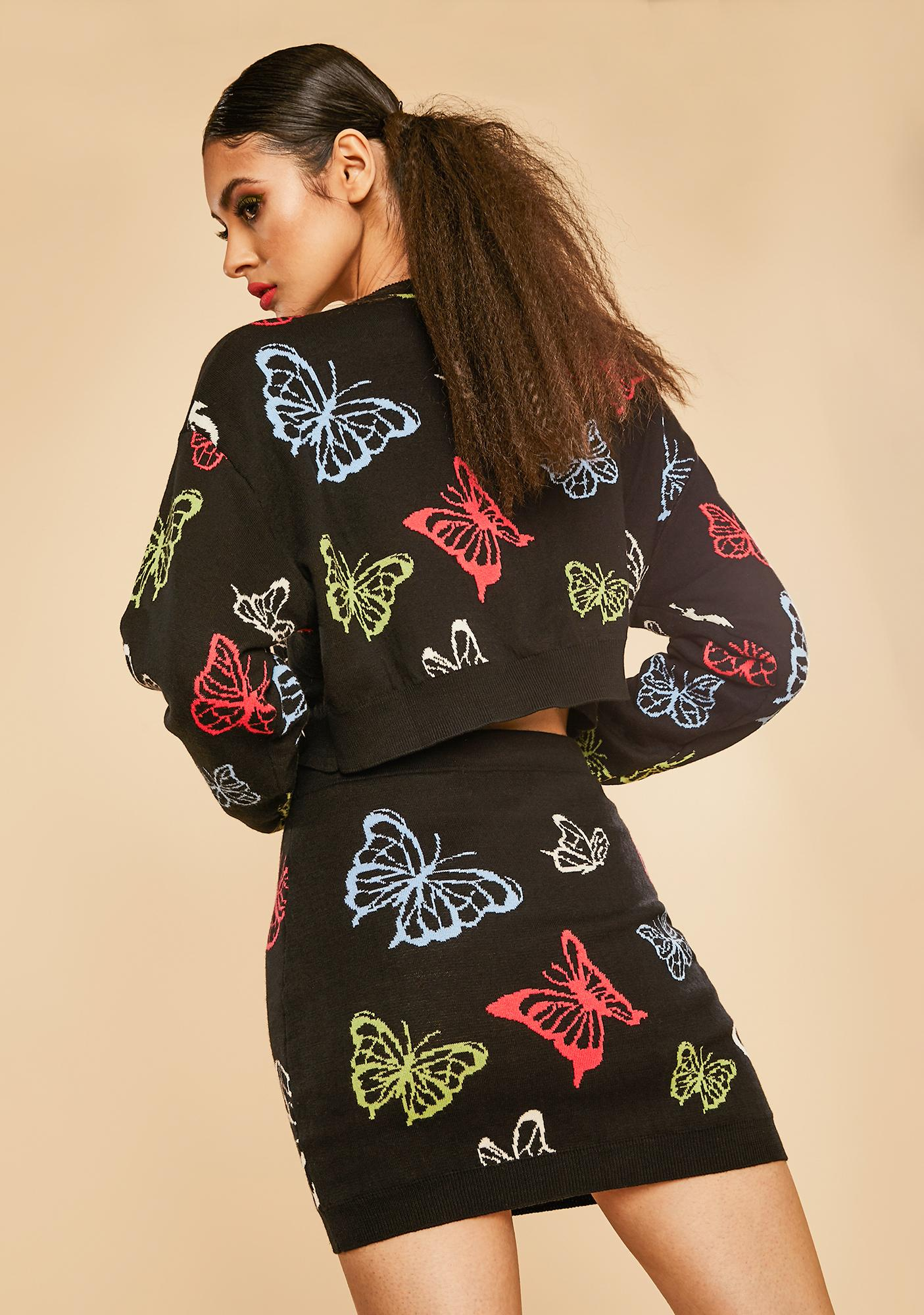 Current Mood Magic Around Me Butterfly Skirt