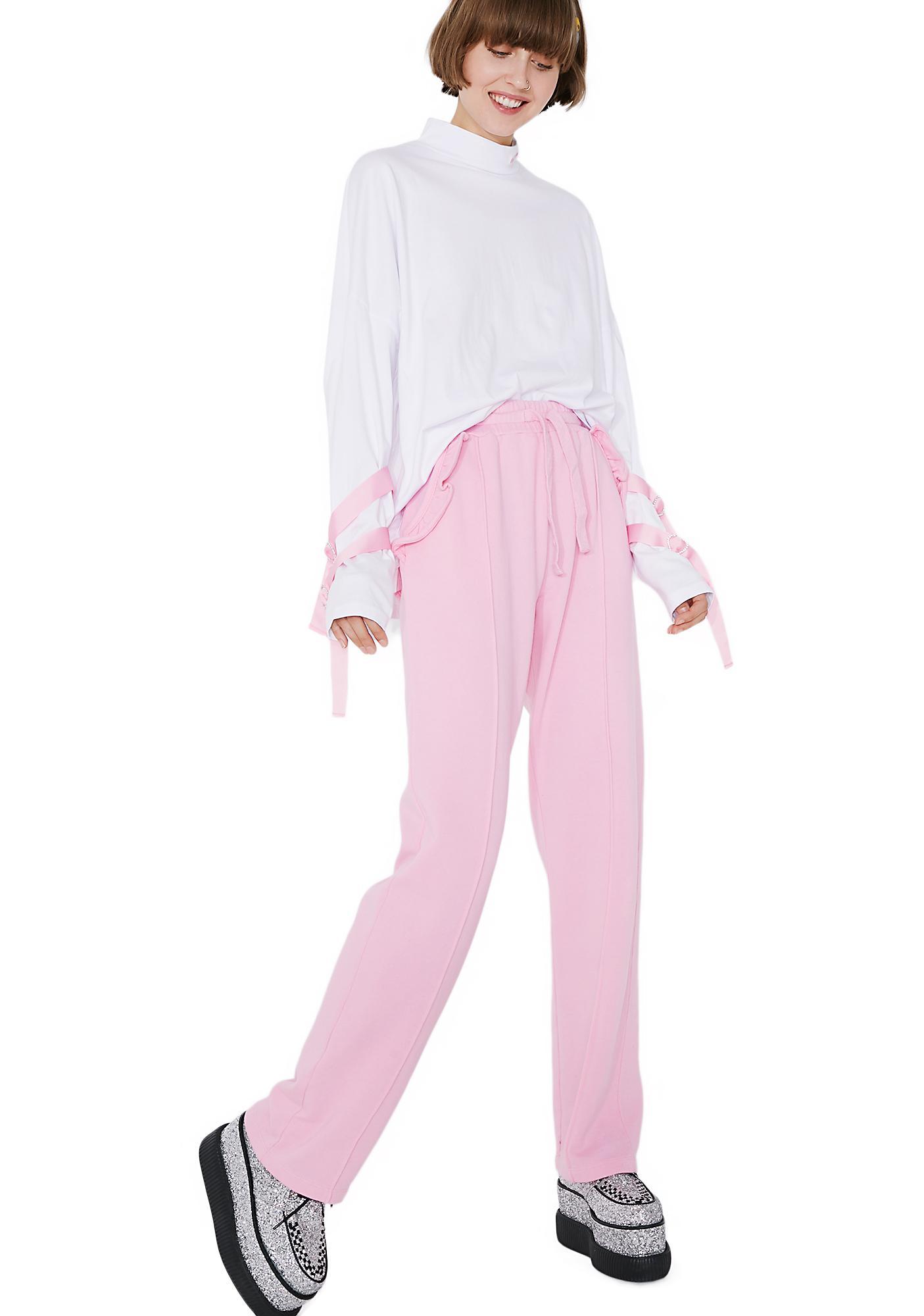 Lazy Oaf Spoilt Pink Track Pants