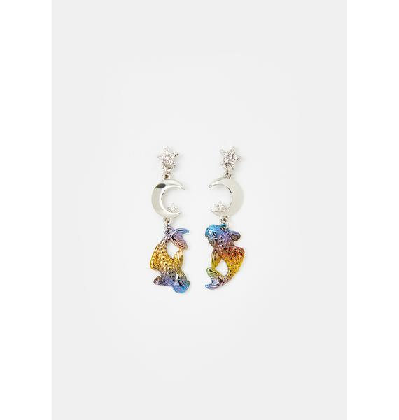 Celestial Duality Pisces Earrings