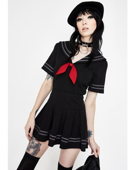 Sailor Goth Crop Top