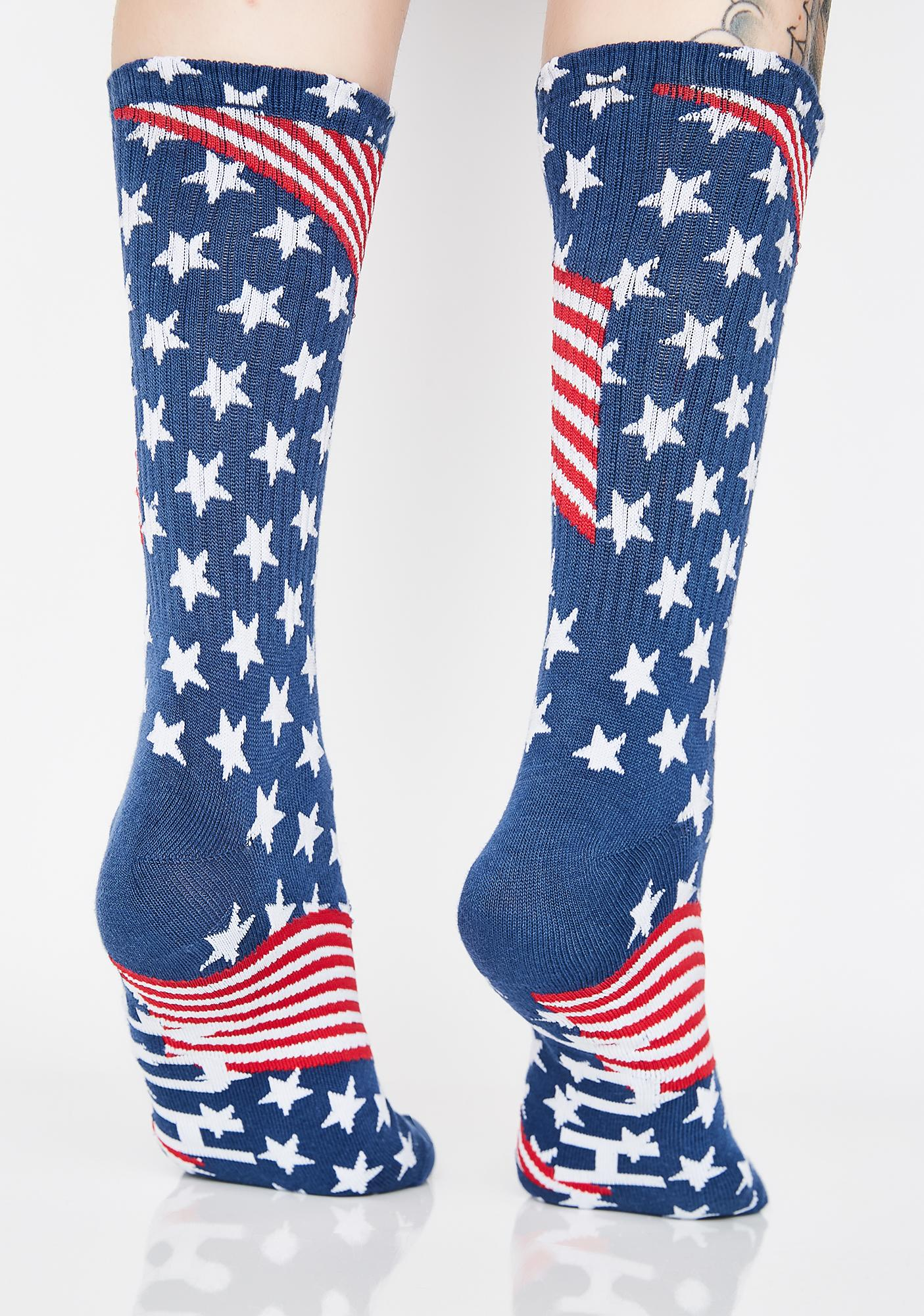 HUF Huf USA Socks