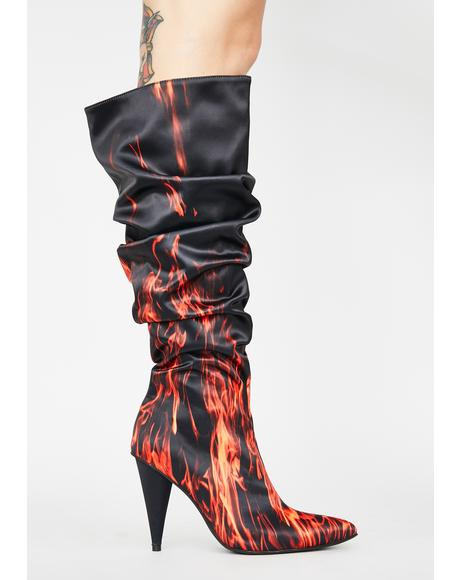 Blazing Glory Knee High Boots