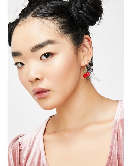 Sweet N' Juicy Cherry Earrings