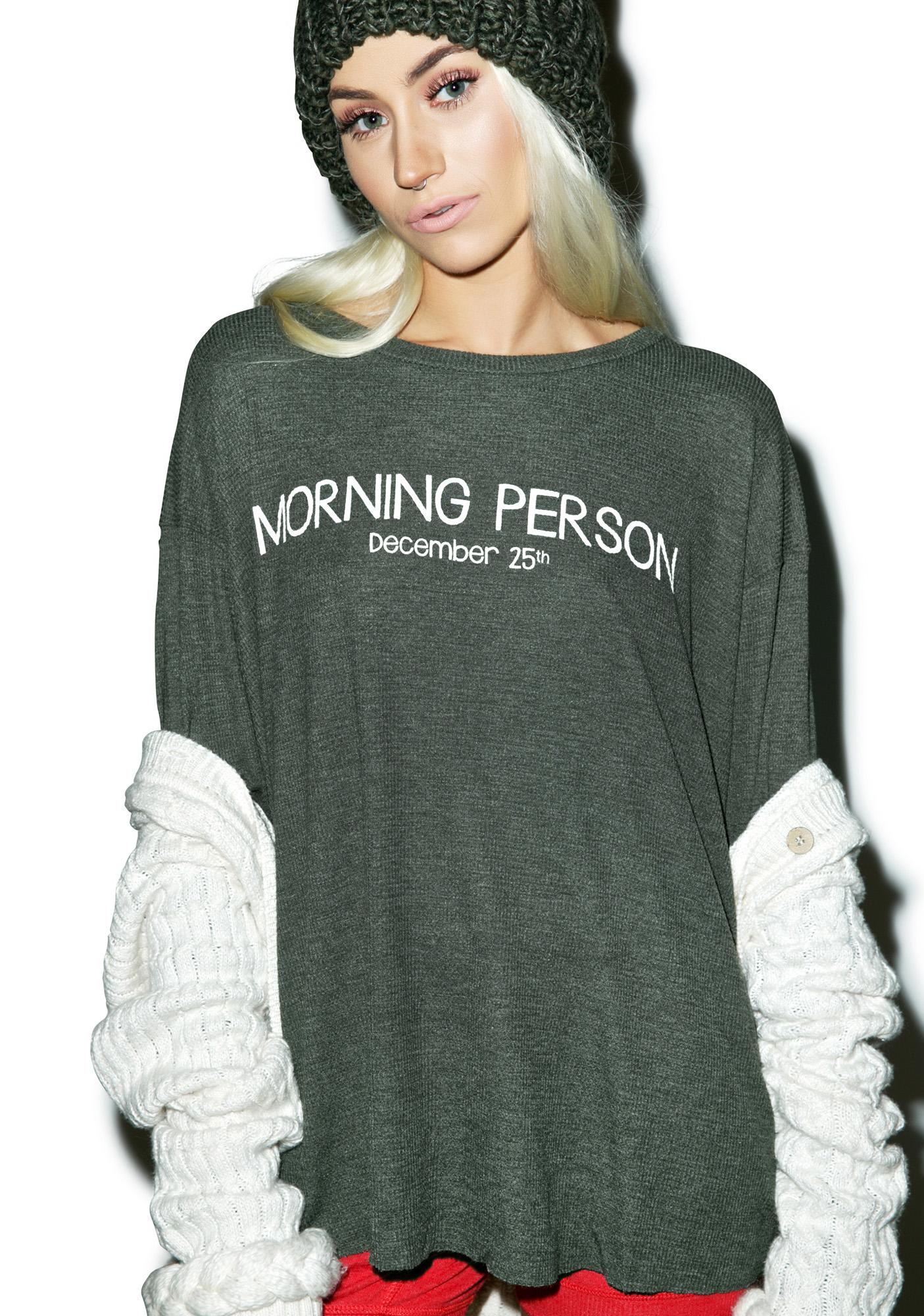 Wildfox Couture Morning Person Effortless Thermal