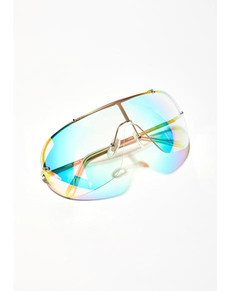 Sky Prismatic Ecstasy Iridescent Glasses