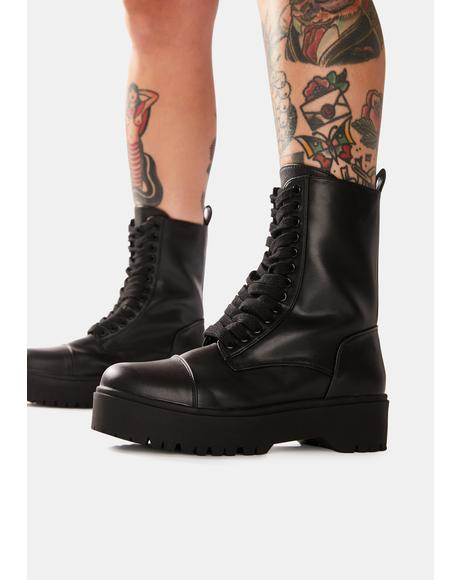 Trouble In Mind Combat Boots