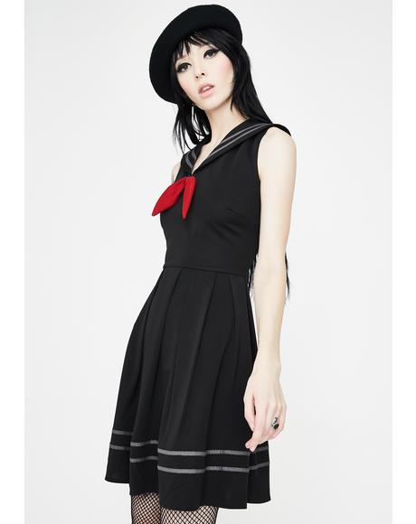 Sailor Goth Mini Dress