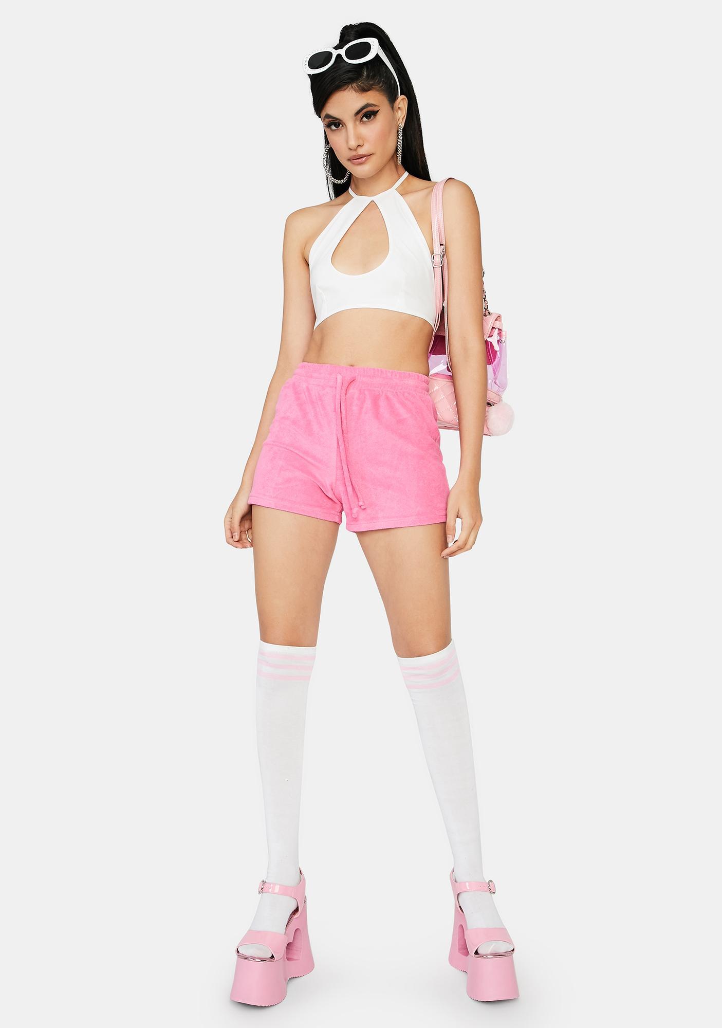 Fuchsia Not Playing Games Lounge Shorts