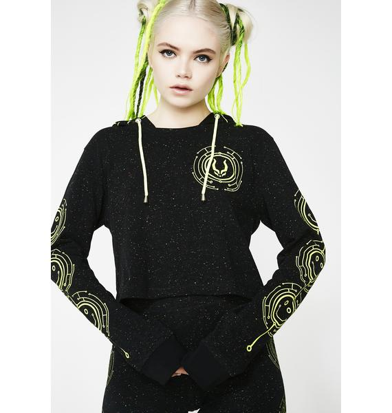 Cyberdog Tecface Long Sleeve Crop Top