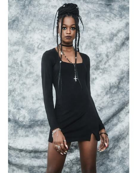 Black Cat Chaos Mini Dress