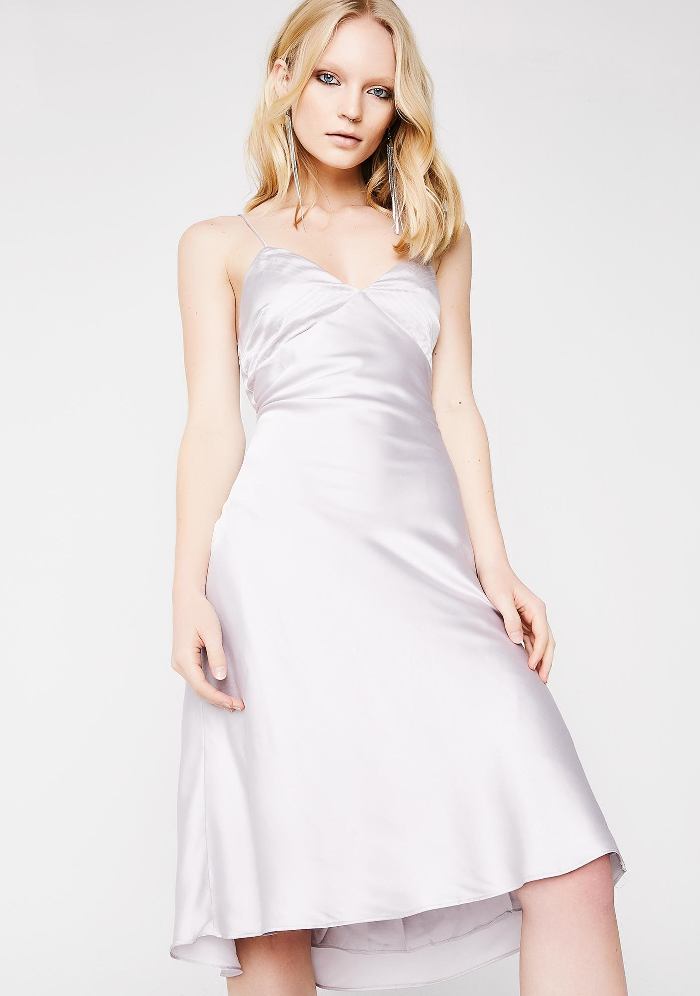 White Satin Dresses for Women