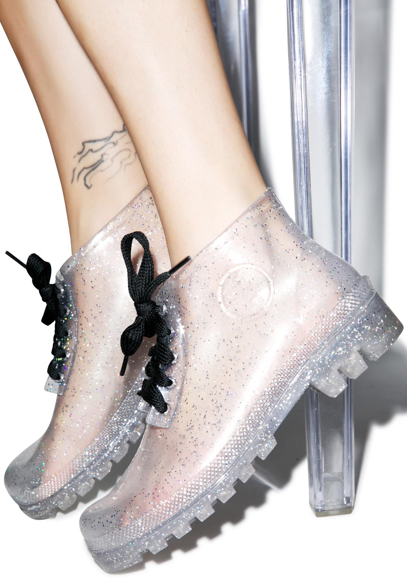 Juju Shoes Rain On Yer Parade Glitter Boots