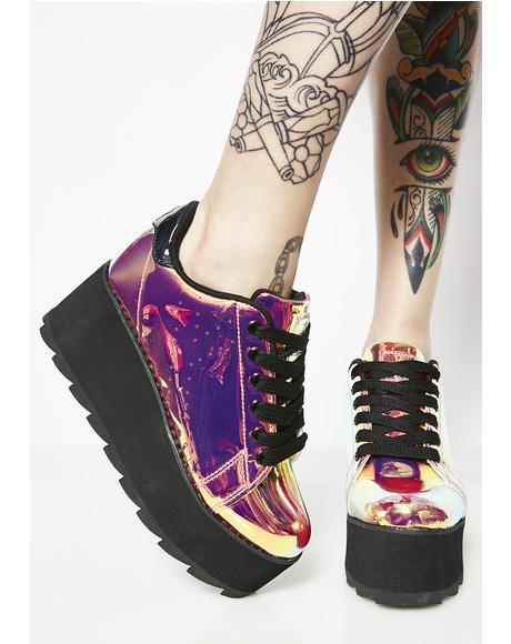 Lala Pink Atlantis Platform Sneakers