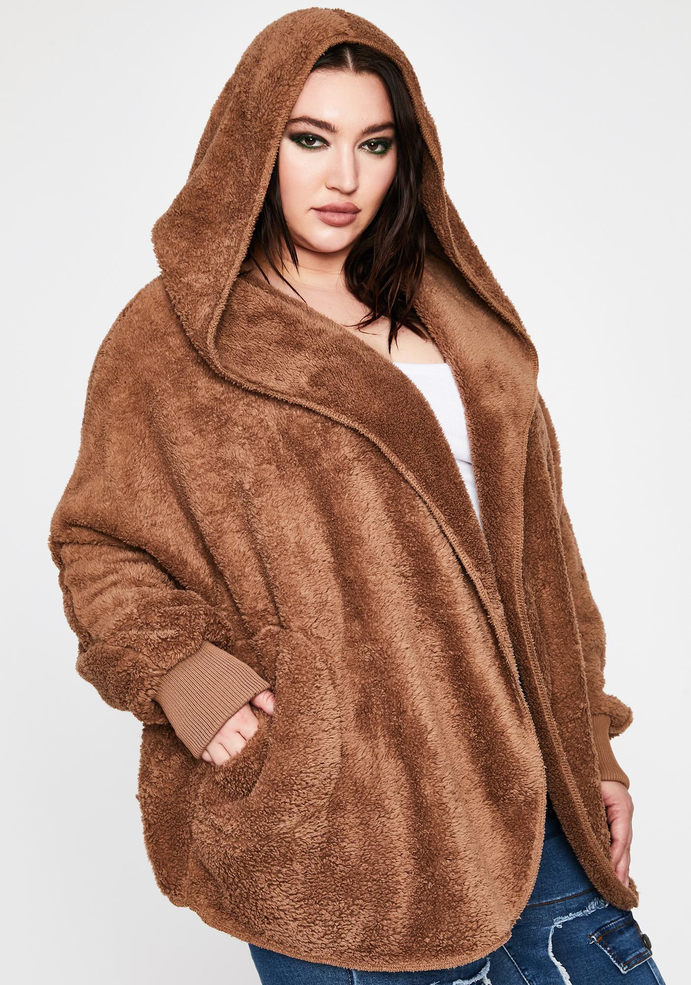 Mocha Soft Girl Szn Plush Jacket