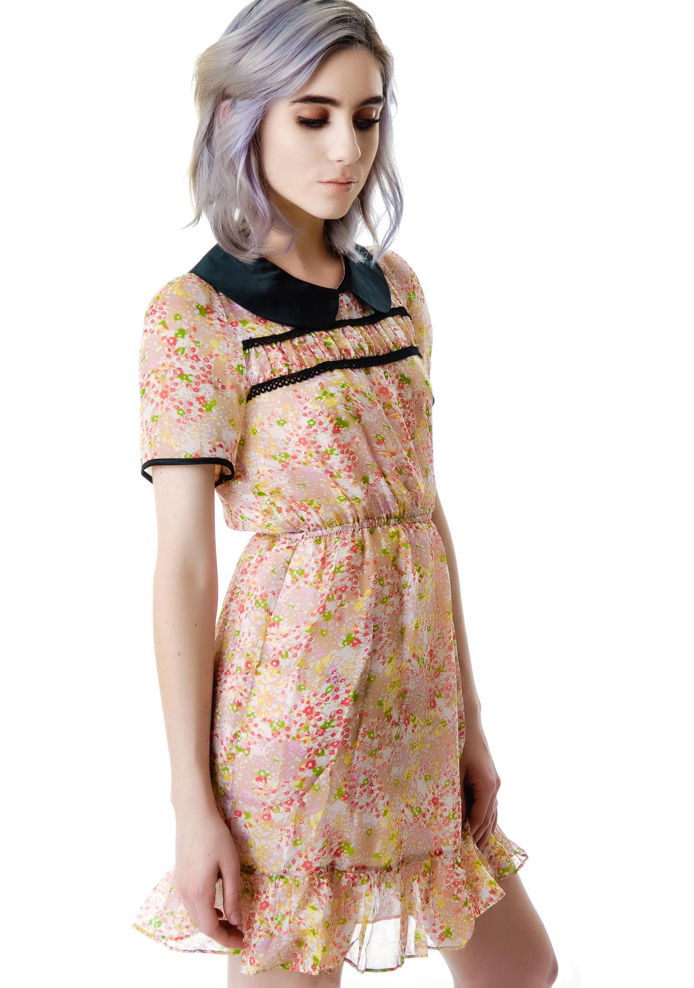 L'ecole des Femmes Evie Floral Collared Dress