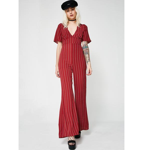 Playah Playah Striped Jumpsuit