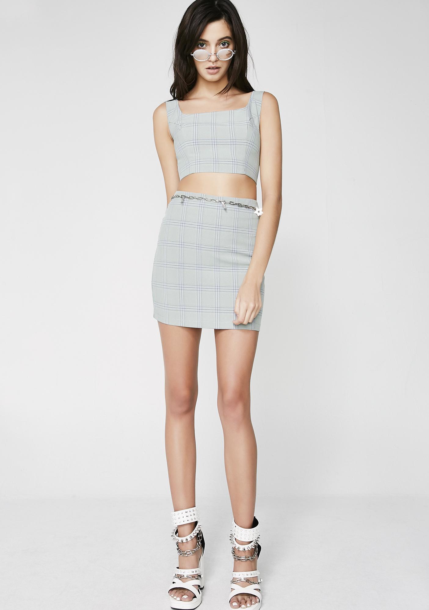 Jade Cuttin' Class Mini Skirt