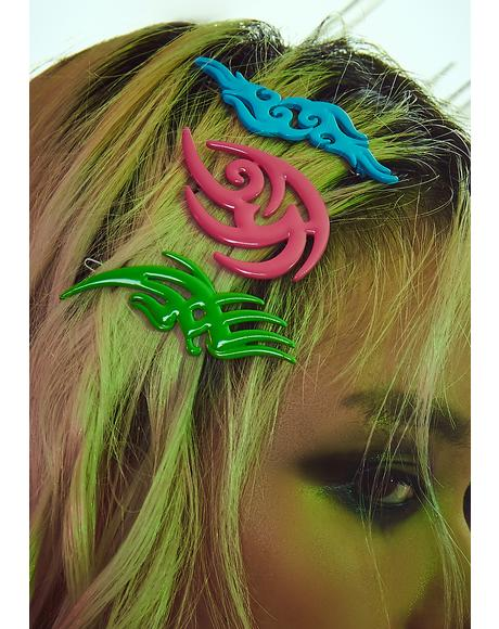 Taste Of Toxins Hair Clips Set