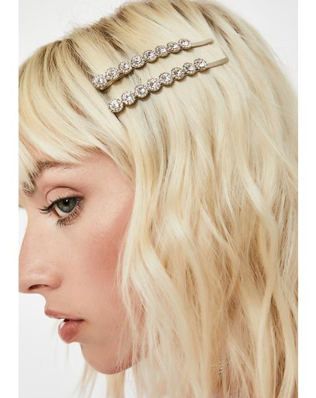 Icy Bish Rhinestone Hair Pins
