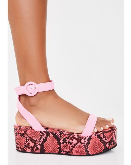 Sweet Animal Control Platform Sandals