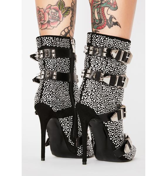 AZALEA WANG Light Up My World Ankle Boots
